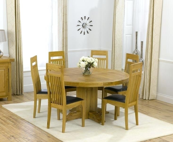 Oak Dining Table Chairs Uk Solid Oak Round Pedestal Dining Table And Pertaining To Round Oak Dining Tables And Chairs (Image 20 of 25)