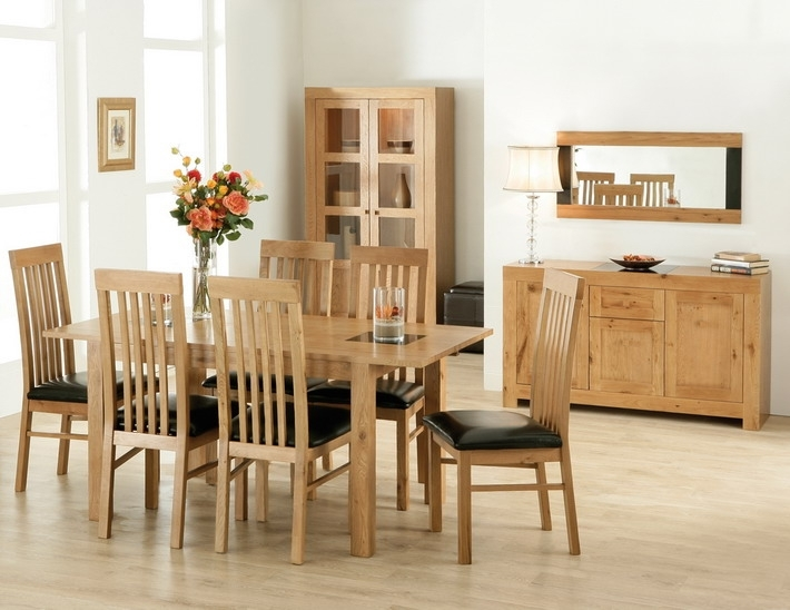 Oak Dining Table Set Solid Oak Dining Table And Chairs Oak Dining Throughout Oak Dining Tables And Chairs (Image 17 of 25)