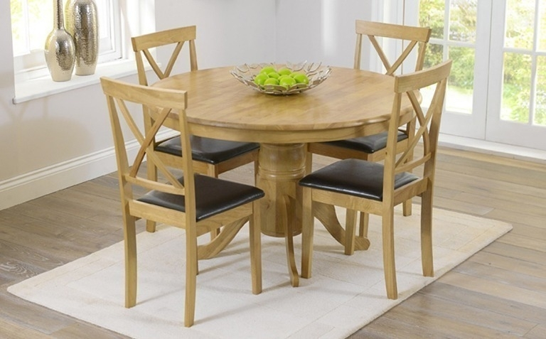 Oak Dining Table Sets | Great Furniture Trading Company | The Great throughout Round Dining Tables Extends To Oval