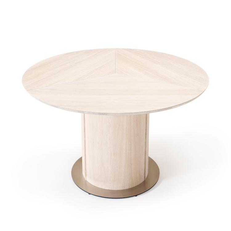 Oak Dining Table | Skovby Oak Extending Round Dining Sm32 Table In Extendable Round Dining Tables (Image 19 of 25)