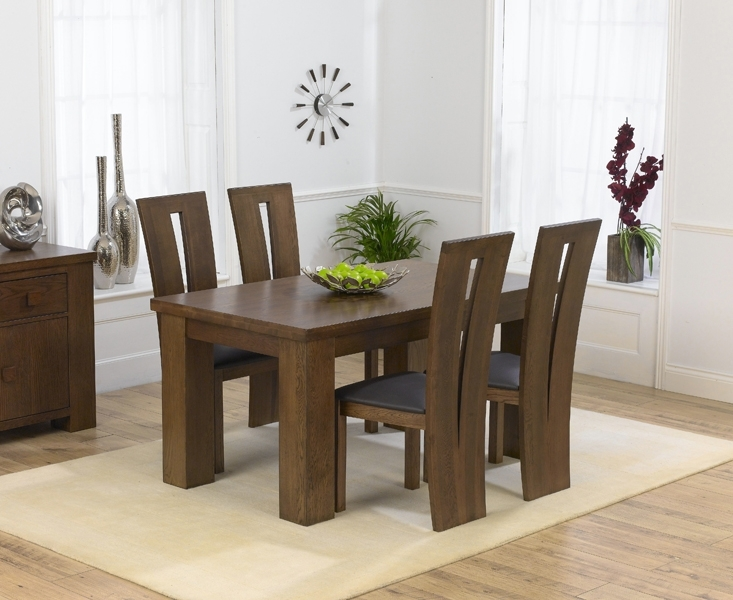 Oak Dining Table With Classic Design » Weedkipedia pertaining to Dark Dining Tables