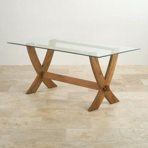 Oak Dining Table With Glass Top – Buxenz In Oak And Glass Dining Tables Sets (View 21 of 25)