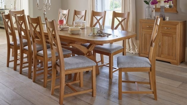 Oak Extendable Dining Table And Chairs | Oak Furnitureland With Extending Dining Tables And Chairs (Image 21 of 25)