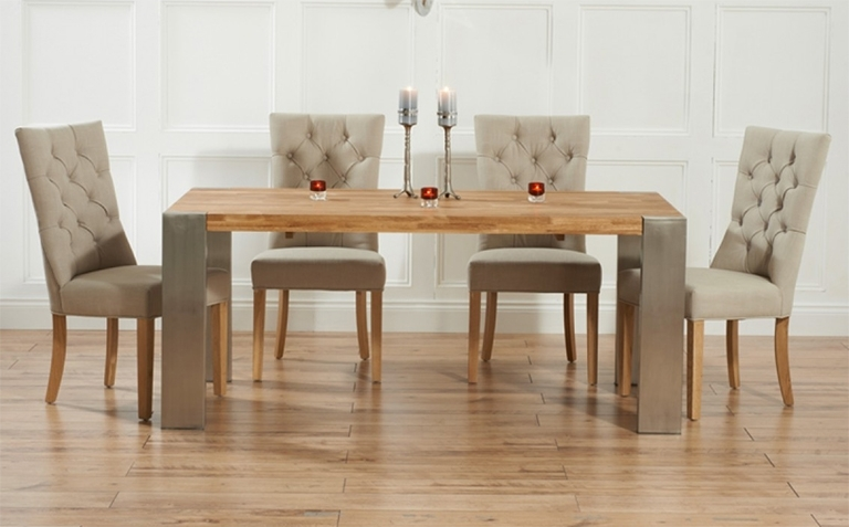 Oak Extending Dining Table Sets - Castrophotos regarding Oak Extending Dining Tables and Chairs