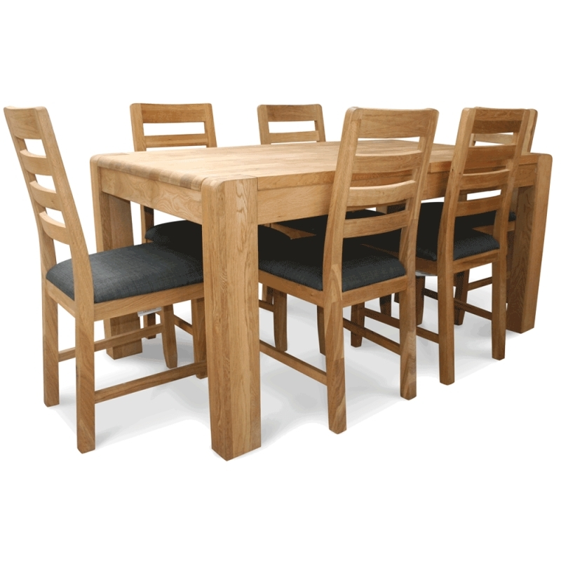 Oak Extending Table And Chairs Inside Caira Extension Pedestal Dining Tables (Image 16 of 25)