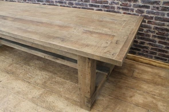 Oak Farmers Table Dining Table | Peppermill Interiors Within Rustic Oak Dining Tables (Image 11 of 25)