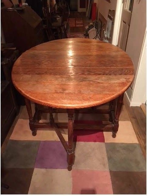 Oak (?) Gateleg Oval Folded Dining Table – Stunning Modern Classic For Oval Folding Dining Tables (View 16 of 25)
