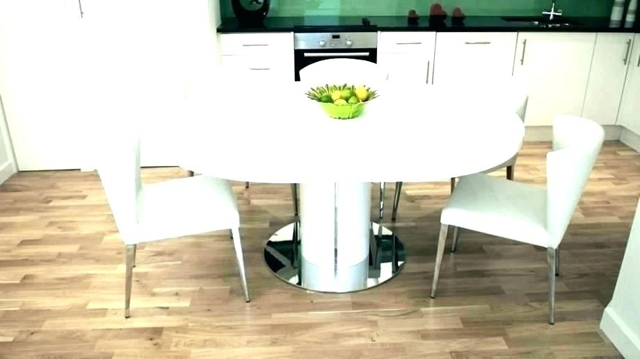 Oak Round Dining Table 6 Leather Chairs Ghost For Round Dining Table With 6 Seater Round Dining Tables (Image 14 of 25)