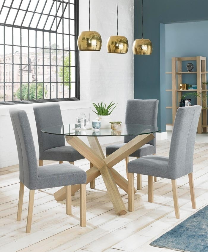 Oak Top Dining Table &hl65 | Wendycorsistaubcommunity In Oak Glass Top Dining Tables (Image 16 of 25)