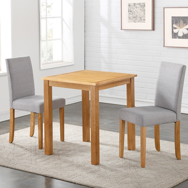 Oakdale Dining Set + 2 Chairs – Ideal Furniture With Regard To Dining Tables And 2 Chairs (View 25 of 25)