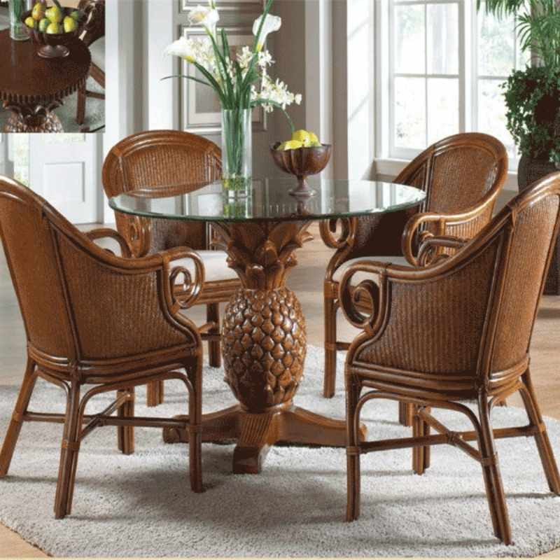 Ocean Reef 5 Pc. Dining Set Includes Four Dining Armchairs And Round Throughout Grady 5 Piece Round Dining Sets (Photo 14 of 25)