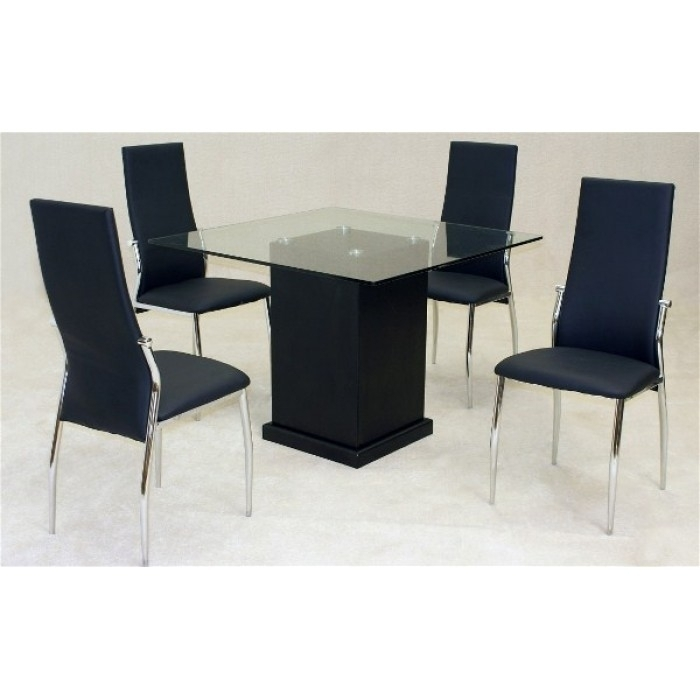 Odessa Dining Table + 4 Lazio Chairs Within Lazio Dining Tables (Photo 4 of 25)
