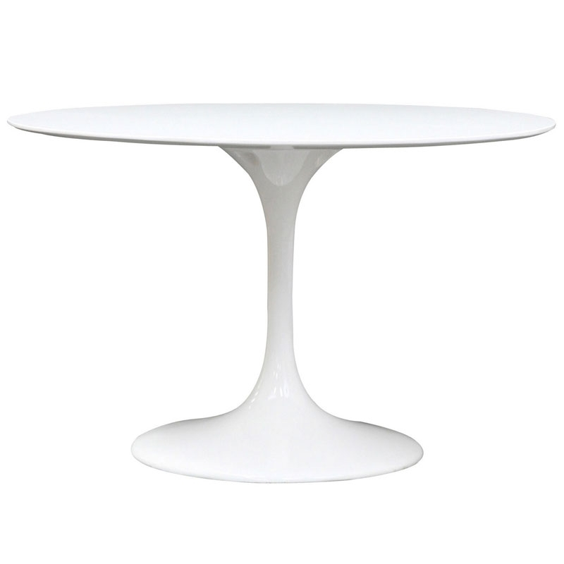"Odyssey 47"" Round White Modern Dining Table 