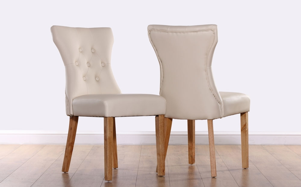 Off White Leather Dining Chairs Dining Room Ideas Dining Room Sets 8 Pertaining To White Leather Dining Room Chairs (View 15 of 25)