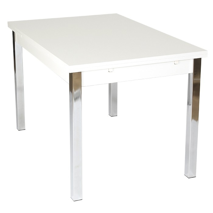 Offersbargains Extending Dining Table 120Cm Ext To 187Cm White Intended For White Melamine Dining Tables (Image 22 of 25)