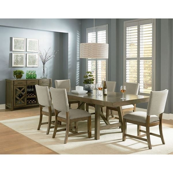Omaha 7 Piece Dining Set | Nail Head, Dining And Paint Finishes In Mallard 7 Piece Extension Dining Sets (Photo 8 of 25)