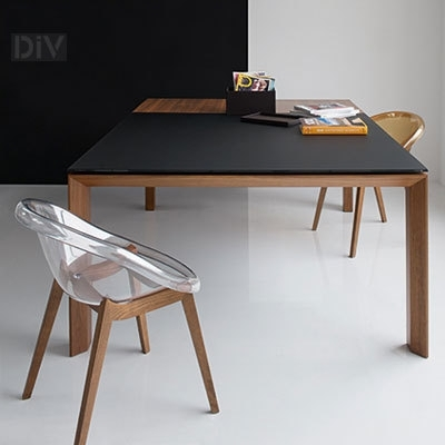 Omnia Glass Square Extendable Dining Table. Dining Tables. Dining Regarding Square Extendable Dining Tables (Photo 3 of 25)