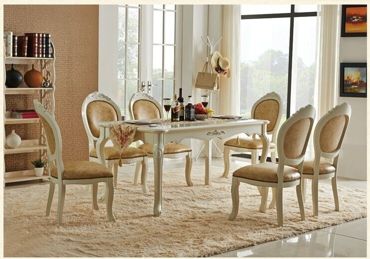 Online Shop Newest Wholesale Europe Classic Style Dining Room Sets In Dining Tables And Chairs Sets (Image 22 of 25)