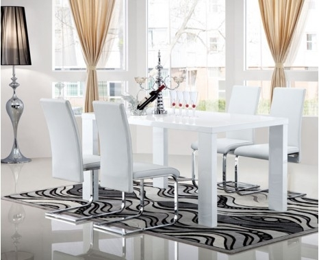 Opus Extending Dining Table - Keens Furniture intended for Gloss White Dining Tables