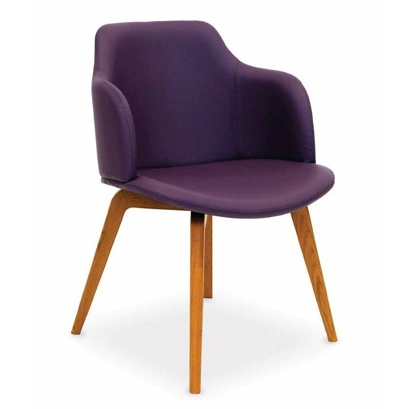 Orba Faux Leather Dining Chair with Purple Faux Leather Dining Chairs