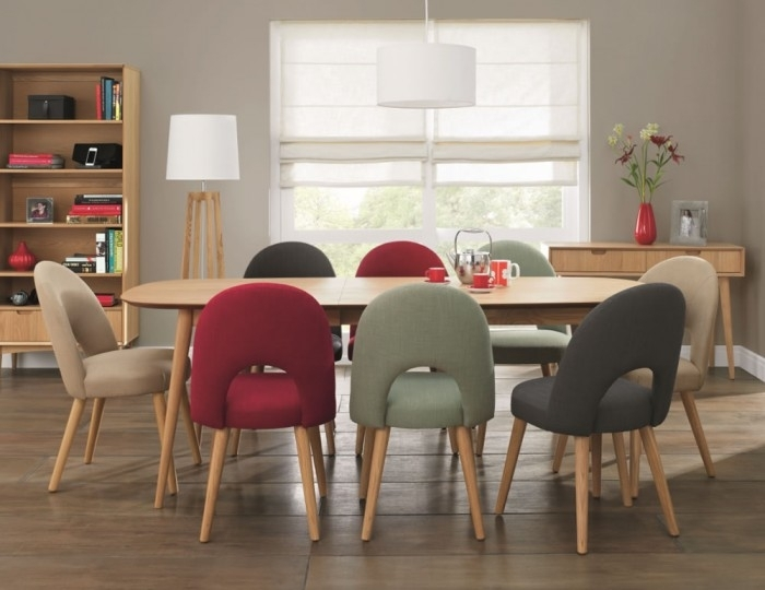 Orbit Oak Extending Retro Dining Table And Chairs Regarding Retro Dining Tables (Photo 5 of 25)