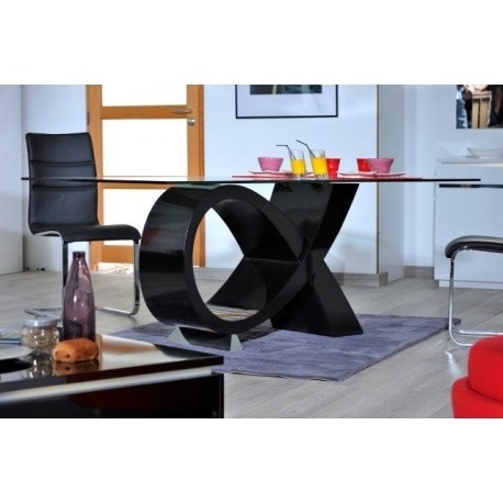 Orde Black High Gloss Dining Table - Dining Tables (1337) - Sena within Black High Gloss Dining Tables And Chairs