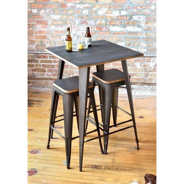 Oregon Rustic 3 Piece Pub Set | Pub Sets | Pinterest | Pub Set, Pub Throughout Harper 5 Piece Counter Sets (Image 12 of 25)