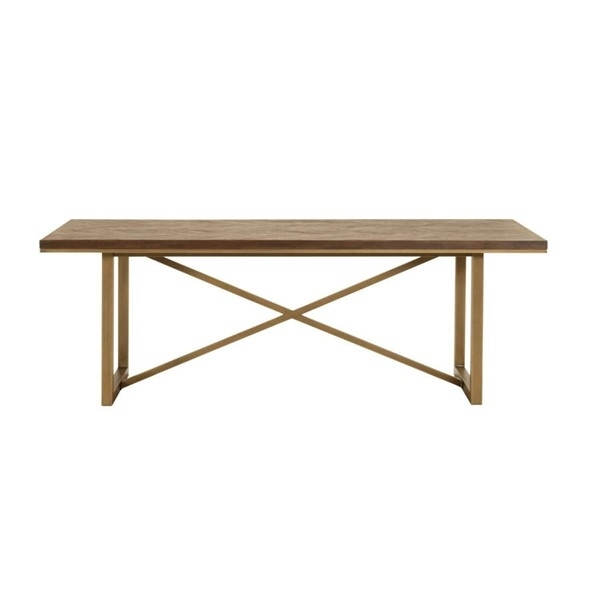 Orient Express Mosaic Rustic Java Brushed Gold Extension Dining in Java Dining Tables