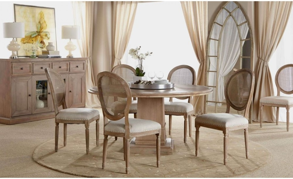 """Orient Express Traditions Hudson 60"""" Round Dining Table In Stone Wash With Hudson Round Dining Tables (Image 24 of 25)"""