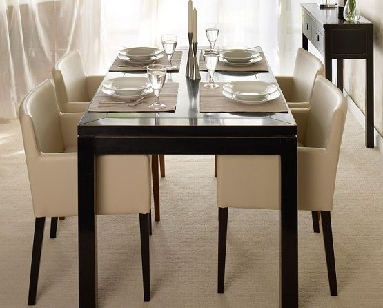 Oriental Leather Low-Back Dining Chairs | Kitchen Ideas | Pinterest for Cream Lacquer Dining Tables