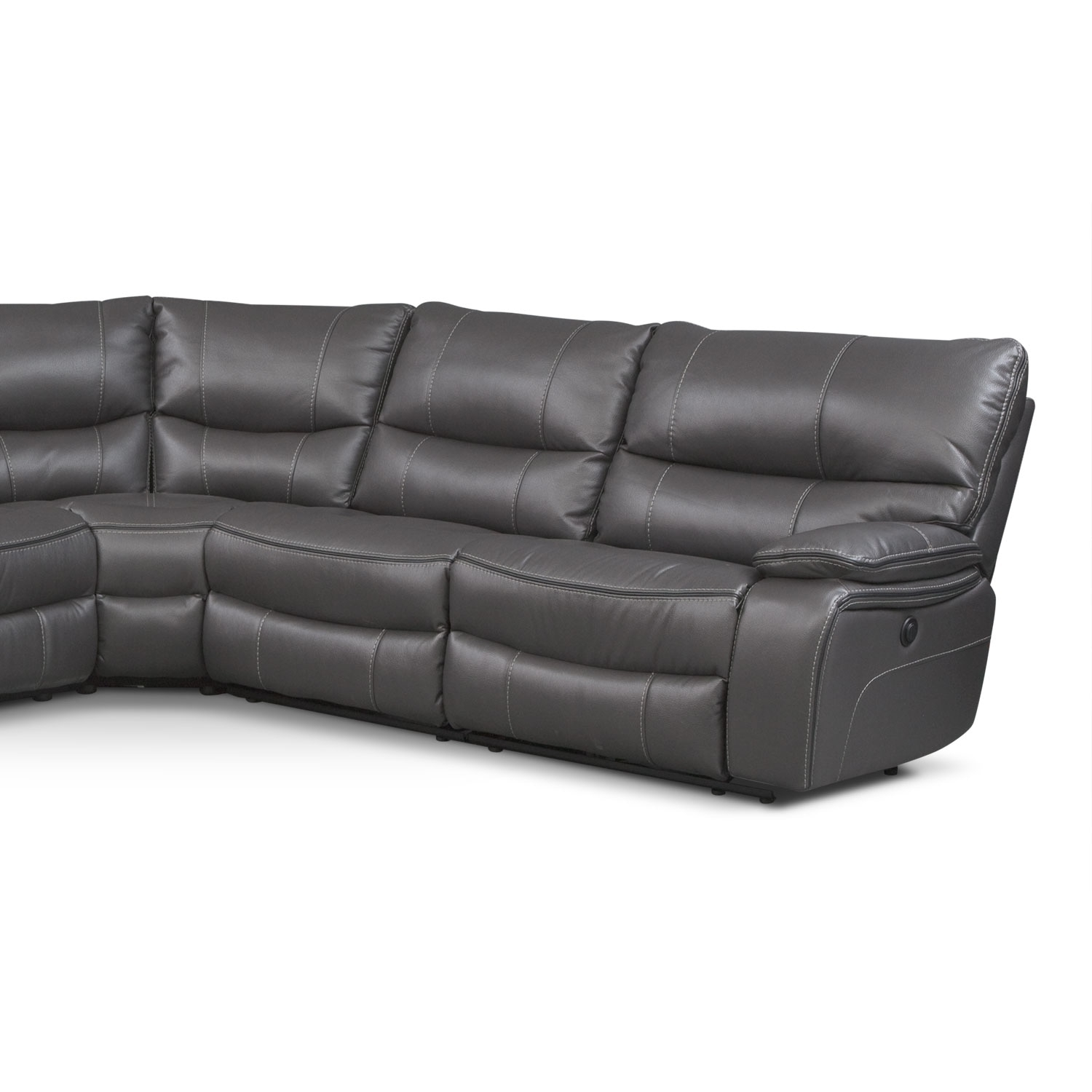 Orlando 6 Piece Power Reclining Sectional With 1 Stationary Chair For Kristen Silver Grey 6 Piece Power Reclining Sectionals (Image 14 of 25)