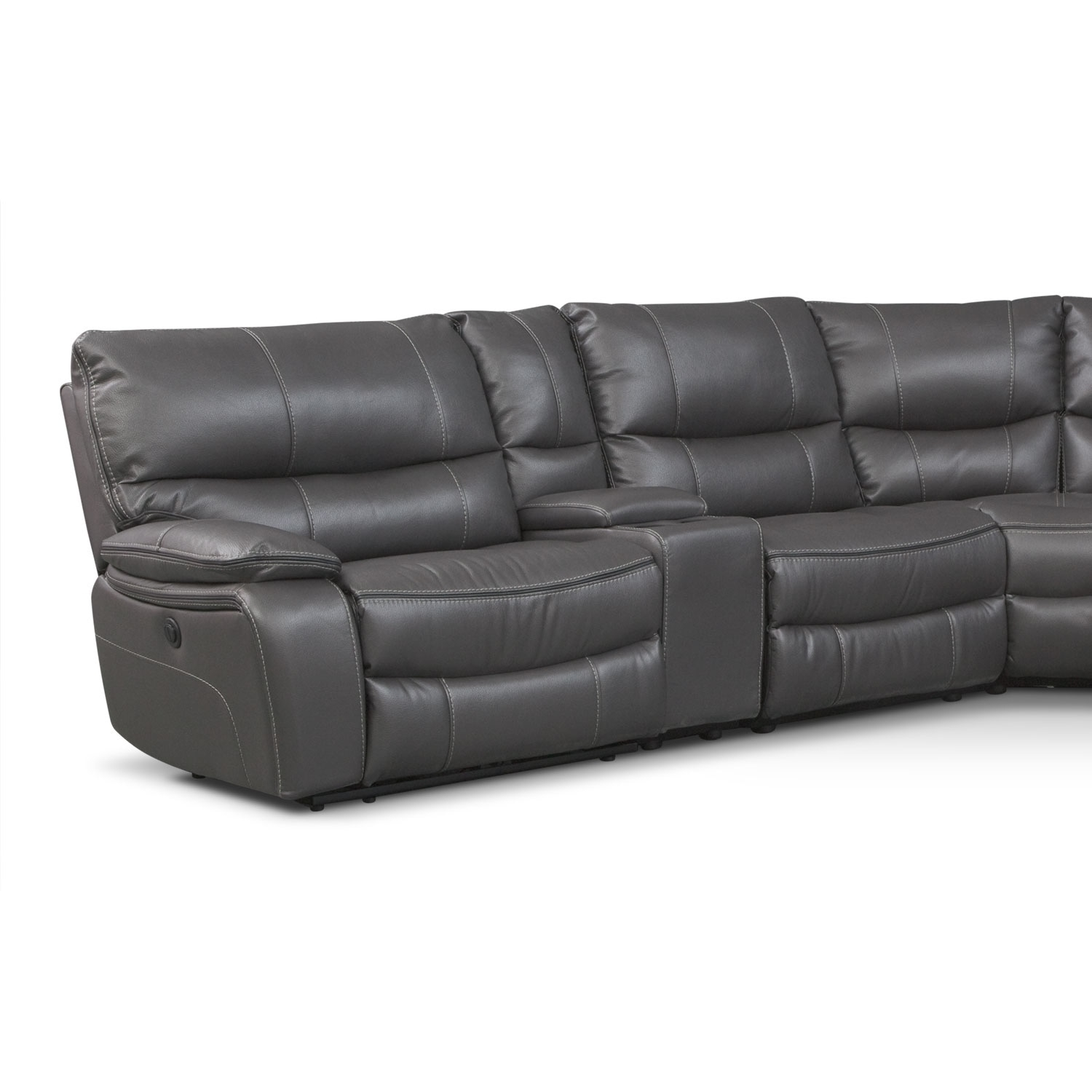 Orlando 6 Piece Power Reclining Sectional With 1 Stationary Chair Pertaining To Kristen Silver Grey 6 Piece Power Reclining Sectionals (Image 15 of 25)