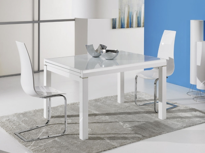 Orlando Extendable Dining Table | Modern Dining Tables | Modern Inside High Gloss White Extending Dining Tables (Photo 13 of 25)
