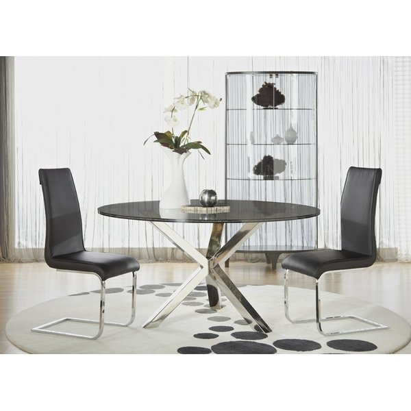 Orren Ellis Arche Sleek Dining Table | Wayfair Inside Sleek Dining Tables (Photo 15 of 25)