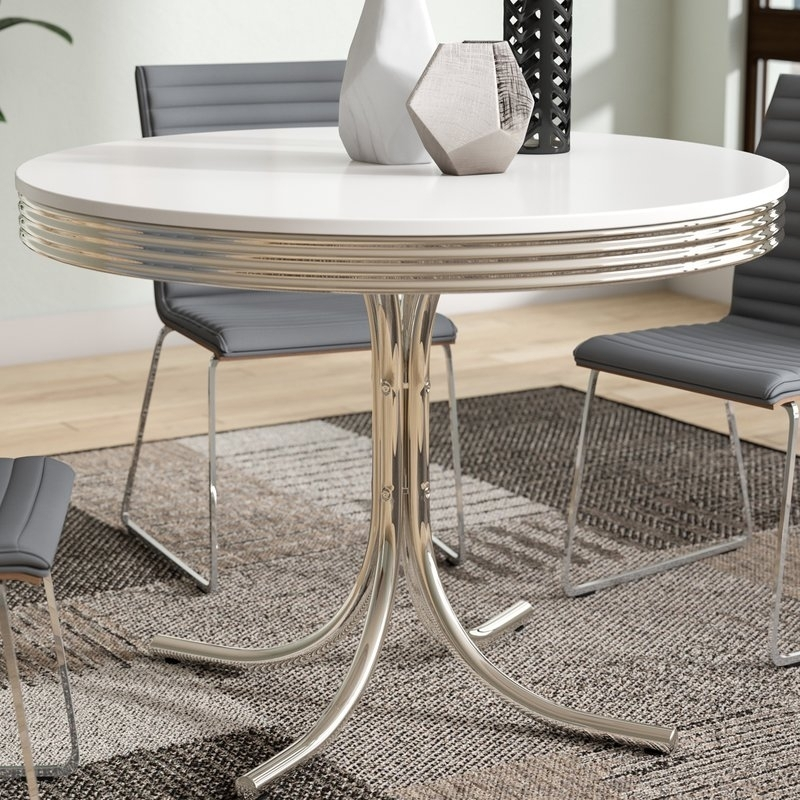 Orren Ellis Kewei Retro Dining Table & Reviews | Wayfair within Retro Dining Tables