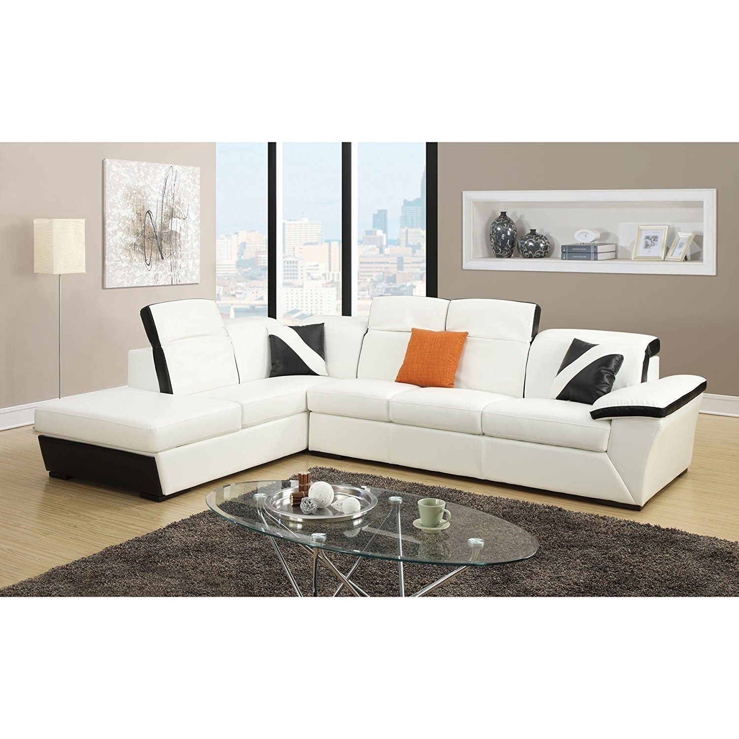 Orren Ellis Keyana Sofa Sectional | Wayfair for Collins Sofa Sectionals With Reversible Chaise