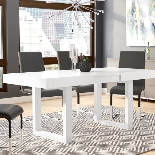 Orren Ellis Marissa Expandable Dining Table & Reviews | Wayfair With Regard To Delfina 7 Piece Dining Sets (Photo 17 of 25)