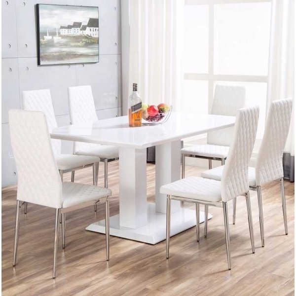 Orren Ellis Ransbergl High Gloss Dining Set With 6 Chairs & Reviews Within Gloss Dining Set (Photo 14 of 25)