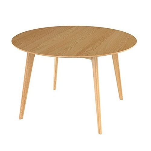 Oslo Round Oak Dining Table | Temple & Webster With Round Glass Dining Tables With Oak Legs (Image 17 of 25)