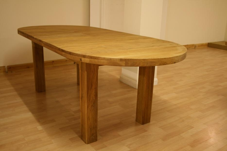 Oslo Solid Oak Dining Furniture| Oak Sideboards| Large Round Dining With Extending Solid Oak Dining Tables (Photo 4 of 25)