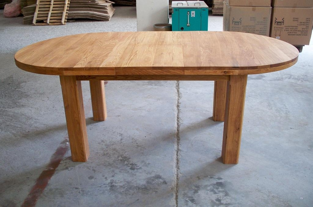 Oslo Solid Oak Dining Furniture| Oak Sideboards| Large Round Dining Within Round Dining Tables Extends To Oval (Photo 3 of 25)