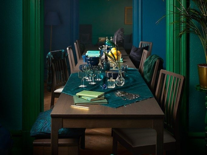 Our Ikea Ekedalen Dinner Table Is Always Ready For Extra Guests With Palazzo 6 Piece Dining Set With Mindy Slipcovered Side Chairs (Photo 14 of 25)