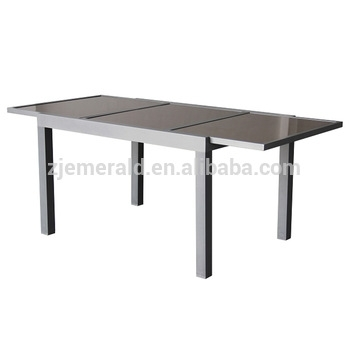Outdoor Aluminum Patio Extendable Glass Dining Table - Buy regarding Outdoor Extendable Dining Tables