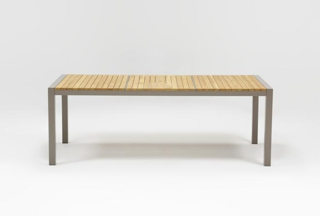 Outdoor Brasilia Teak Dining Table | Living Spaces Intended For Outdoor Brasilia Teak High Dining Tables (Photo 1 of 25)