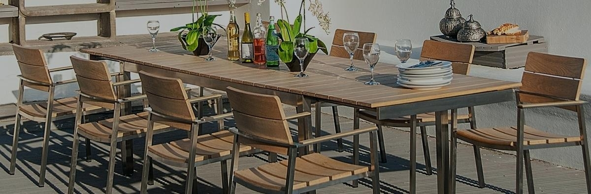 Outdoor Dining Table For 8 Nurseries Rose Cologne 8 Extending Table Intended For 8 Seat Outdoor Dining Tables (Image 21 of 25)