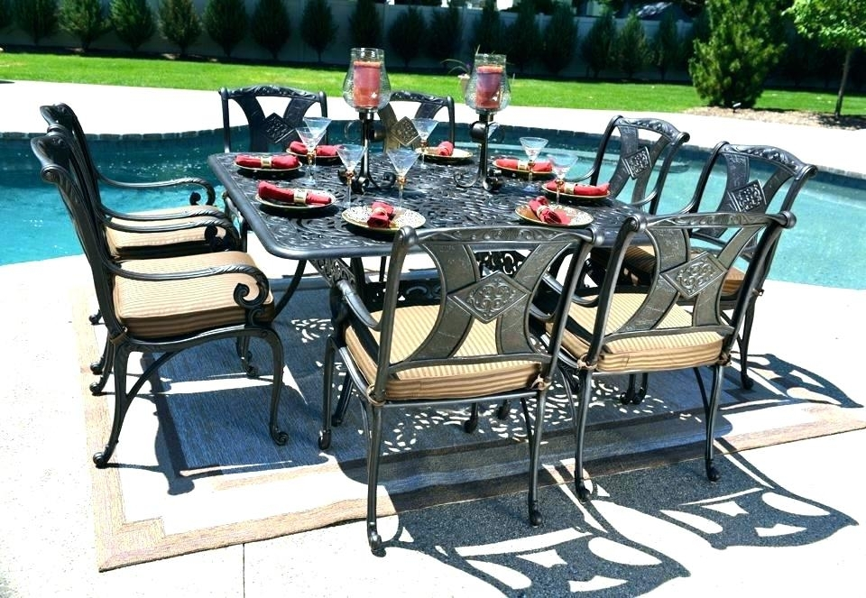 Outdoor Dining Table For 8 Square Patio Table For 8 Square Patio Within 8 Seat Outdoor Dining Tables (Image 22 of 25)