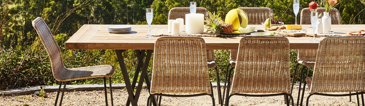 Outdoor Dining Tables & Chair Packages – Early Settler Intended For Dining Tables (Image 21 of 25)