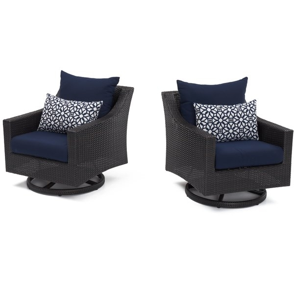 Outdoor Motion Club Chairs | Wayfair regarding Palazzo 6 Piece Dining Sets With Pearson Grey Side Chairs
