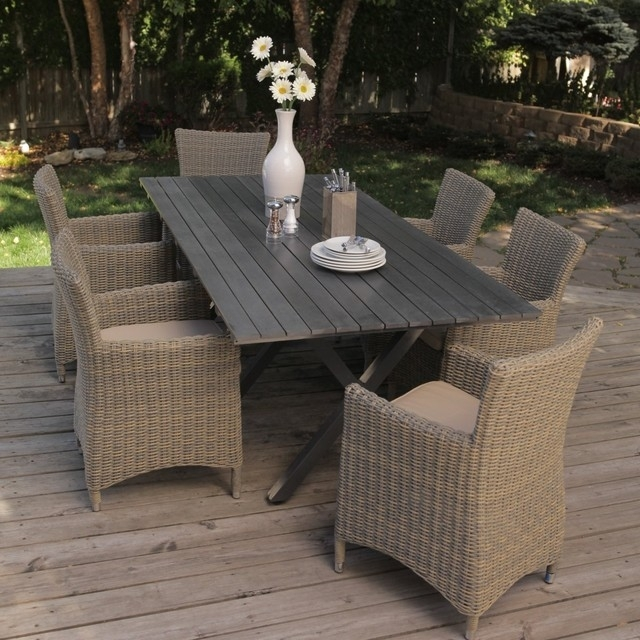 Outdoor Rattan Dining Sets | Wicker Patio Furniture For Rattan Dining Tables And Chairs (Image 9 of 25)