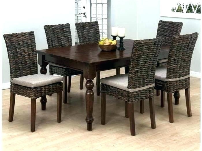 Outdoor Wicker Dining Table And Chairs Indoor Room Sets Rattan Round With Regard To Rattan Dining Tables And Chairs (Photo 21 of 25)